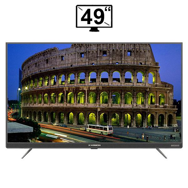 تلویزیون ال ای دی هوشمند ایکس ویژن مدل 49XTU725 سایز 49 اینچ 4k