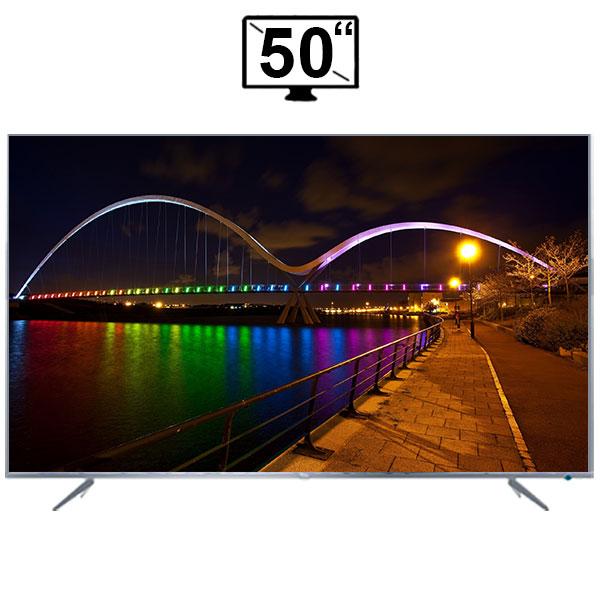 تلویزیون ال ای دی هوشمند تی سی ال مدل 50P6US سایز 50 اینچ کیفیت تصویر 4K